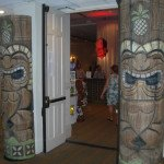 The entrance to the Tiki Treasures Bazaar at the Bahia Mar on Saturday afternoon.