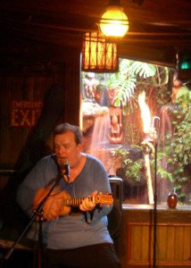 Pablus of The Crazed Mugs performs in The Molokai bar.
