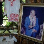A photo of The Mai-Kai's late owner, Bob Thornton, welcomes guests of The Hukilau to the display of artifacts in the Tahiti dining room.