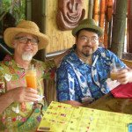 "Tiki historian and author Jeff ""Beachbum"" Berry toasts The Mai-Kai and The Hukilau on Sunday with Steve Yamada, the head bartender at Berry's upcoming Latitude 29 in New Orleans."