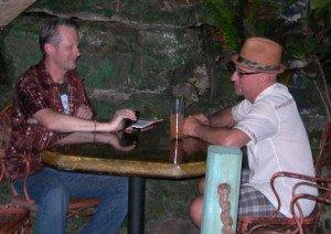 Hurricane Hayward interviews Otto von Stroheim