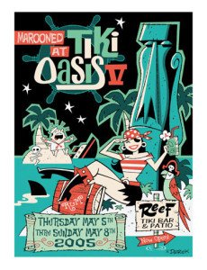 The official poster for Tiki Oasis 2005 by Derek Yaniger