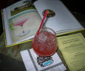 The first cocktail served was the Queen's Park Hotel Super Cocktail, from the Queen's Park Hotel in Port-of-Spain, Trinidad
