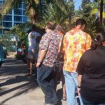 Trader Sam's fans lined up early for the first of four seatings