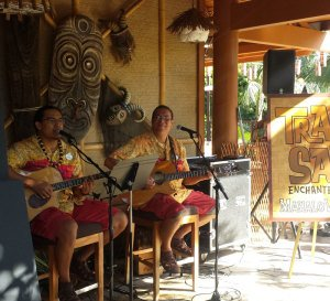 Authentic Hawaiian music set the mood on the patio outside Trader Sam's during the Mahaloween Luau on Sept. 29
