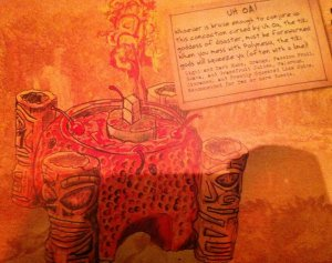 Uh Oa! on the Trader Sam's menu in Disneyland