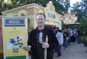 Hurricane Hayward samples the flavors of Brazil at the 2014 Epcot Food and Wine Festival