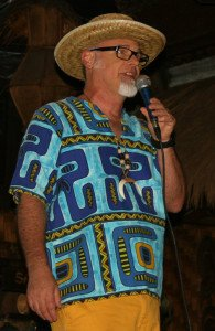 "Jeff ""Beachbum"" Berry presents a symposium at The Mai-Kai during The Hukilau in June 2014"