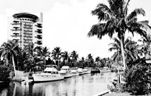A vintage photo of the Pier 66 hotel in Fort Lauderdale