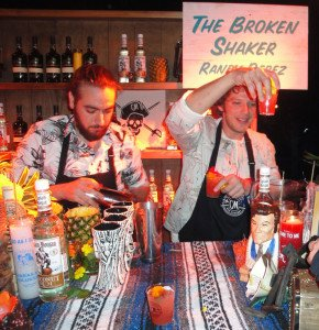 Randy Perez (left) and Gui Jaroschy from The Broken Shaker in Miami took home the People's Choice award.