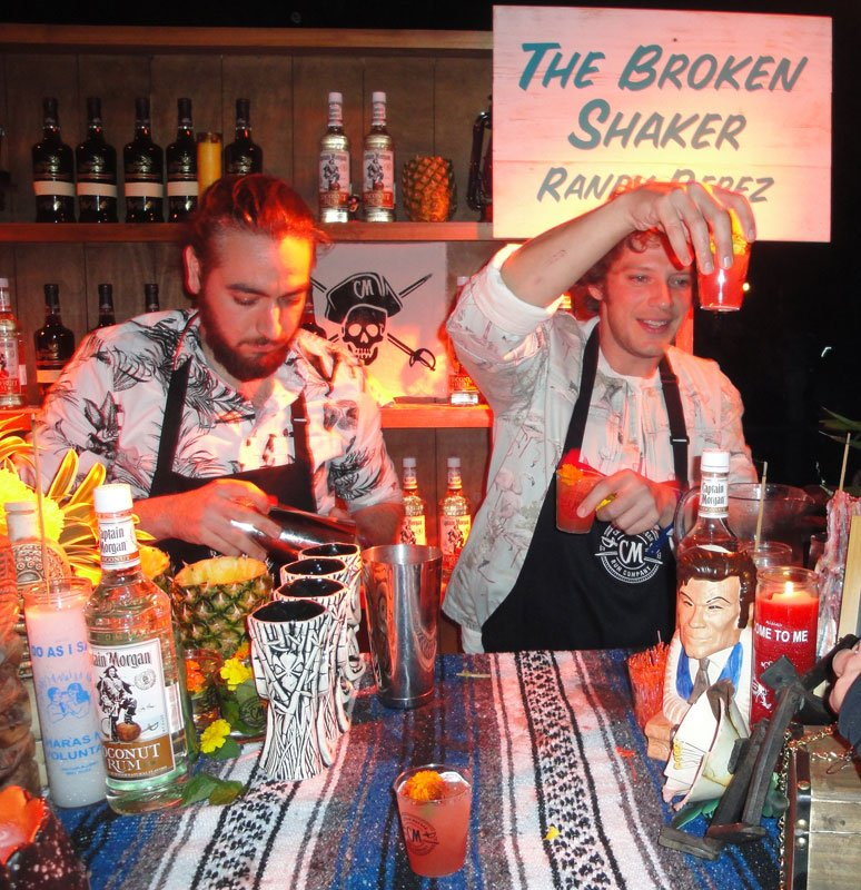 Randy Perez (left) and Gui Jaroschy from The Broken Shaker in Miami took home the People's Choice award at The Art of Tiki: A Cocktail Showdown in February at the South Beach Wine & Food Festival