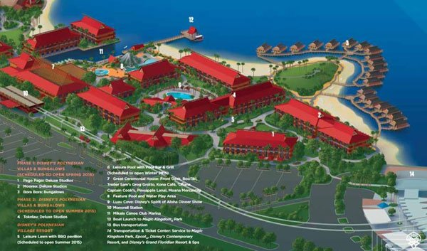 New Polynesian Village Resort map