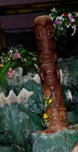 Basement Kahuna's Tiki carved in the Marquesan style was installed in the indoor gardens at The Mai-Kai in Fort Lauderdale in 2007