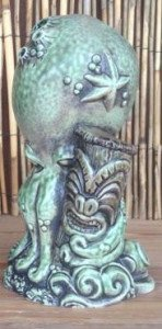 The official Tiki Caliente 7 Underwater Ohana mug, designed by Doug Horne