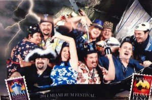 Members of the Fraternal Order of the Moai's Gumbo Limbo Chapter are longtime supporters and volunteers at athe Miami Rum Festival