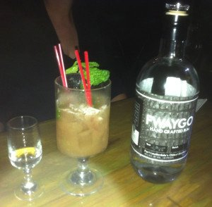 The Grapefruit Julep, created by The Mai-Kai for the Miami Rum Festival featuring Fwaygo Rum, grapefruit juice, grenadine and bitters