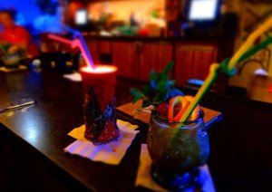 The Krakatoa Punch (left) and HippopotoMai-Tai are served at Trader Sam's Grog Grotto