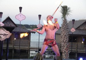 A fire dancer performs at Disney's Polynesian Village Resort