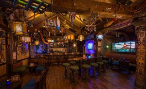Trader Sam's Grog Grotto is filled with Tiki and Disney memorabilia, plus many special effects triggered when patrons order specific drinks