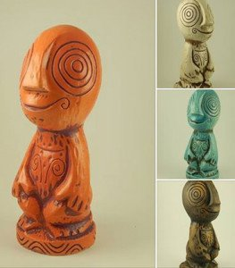 The official 2015 mug for The Hukilau by Tiki Diablo comes in four different glazes