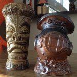 The Caliente Tropics 50th anniversary mug (left) and Mark V mug, created for Tiki Caliente 2015, are still available