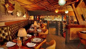 The dining room and bar at Trader Vic's in Atlanta