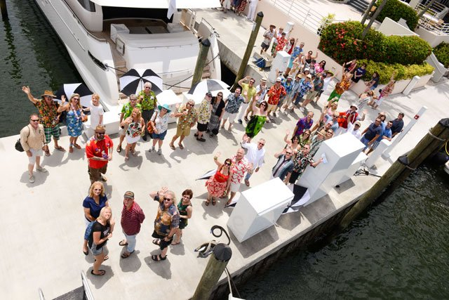 Hundreds of villagers eagerly await a special cruise with Dawn Wells, best known as Mary Ann on iconic 1960s sitcom Gilligan's Island. (Photo by Go11Events.com)