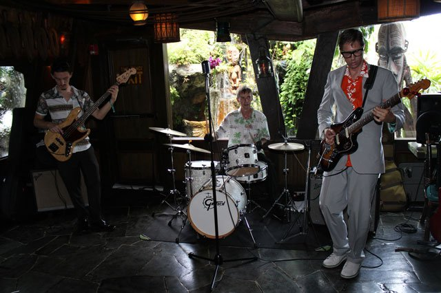 Skinny Jimmy Stingray picks right up where he left off Saturday night, rocking the house with bassist Chris and drummer Tom. (Photo by The Tanabi Group)