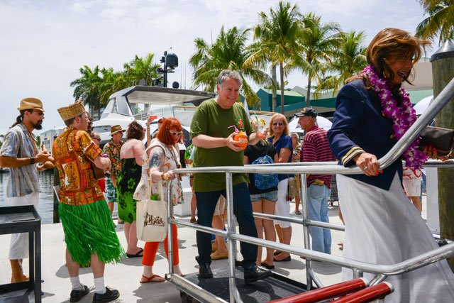 Dawn Wells leads guests aboard the Lady Windridge Yacht for a three-hour tour of Fort Lauderdale's inland waterways. (Photo by Go11Events.com)