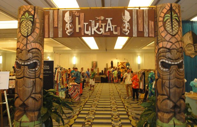 The Hukilau's vendor showcase, the Tiki Treasures Bazaar, was held in the Crystal Ballroom at the Hyatt Regency Pier 66. (Atomic Grog photo)