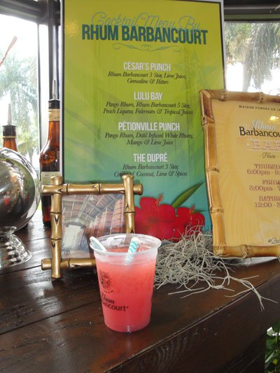 Cesar's Punch was one of four special drinks available at the Rhum Barbancourt booth. (Atomic Grog photo)