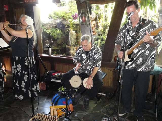 South Florida's The Quiet Villagers play an early set of exotic tunes in The Molokai bar. (Atomic Grog photo)