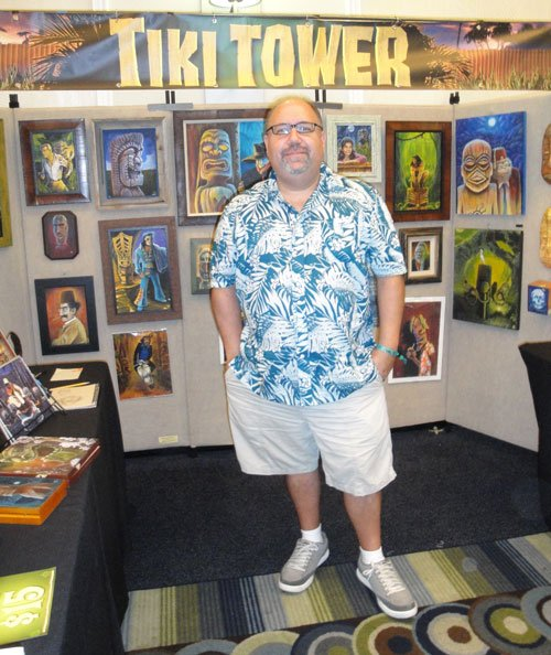 South Florida's Robert Jimenez creates distinctive artwork under the Tiki Tower name. (Atomic Grog photo)