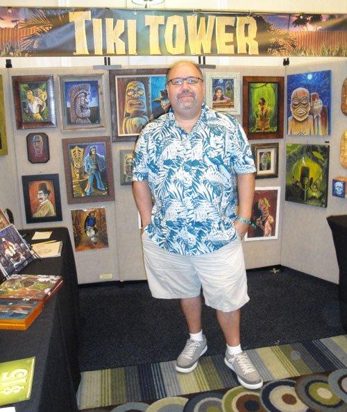 South Florida's Robert Jimenez creates distinctive artwork under the Tiki Tower name. (Atomic Grog photo)