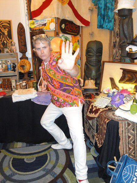 "Georgia artist Dave ""Basement Kahuna"" Wolfe is a longtime vendor and coordinator at The Hukilau. (Atomic Grog photo)"
