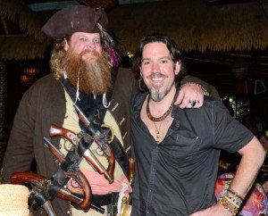 Pirate meets pirate: Jim Stacy with Brian Miller (Tiki Mondays With Miller) at The Mai-Kai during The Hukilau in June 2016