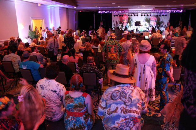 The ballroom was filled with villagers awaiting an eclectic lineup of bands. (Photo by The Tanabi Group)