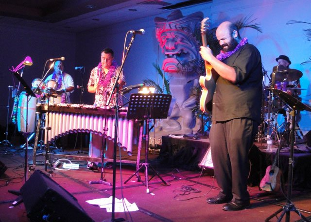 The Alika Lyman Group's performance at The Hukilau was their only scheduled U.S. mainland appearance of 2015. (Atomic Grog photo)