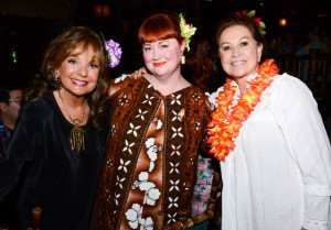 "Christie ""Tiki Kiliki"" White with actress Dawn Wells (left) and Mai-Kai owner Mireille Thornton at The Hukilau 2015. (Photo by Go11Events.com)"