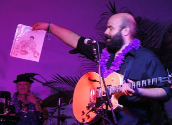 Alika Lyman is the nephew of exotica legend Arthur Lyman. The band paid tribute by performing several of his classic tunes. (Atomic Grog photo)