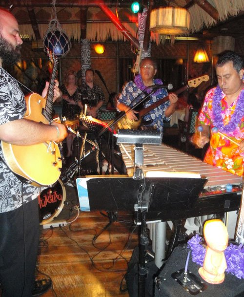 The Mai-Kai's Tahiti dining room is the perfect setting for exotic sounds of the Alika Lyman Group. (Atomic Grog photo)