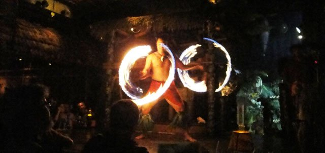 The fire dance is always a crowd favorite. (Atomic Grog photo)