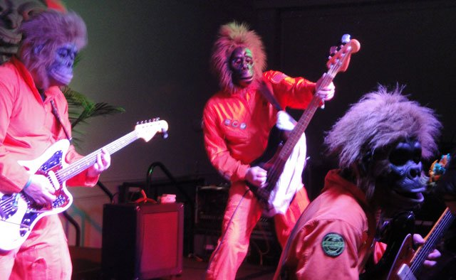 Unable to communicate verbally, The Disasternauts let their music do the talking. (Atomic Grog photo)