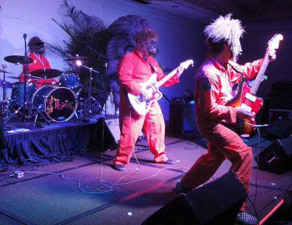 Don't tell anyone, but The Disasternauts are actually an offshoot of The Intoxicators and include lead guitarist Gary Evans and drummer Brian Crum. (Atomic Grog photo)