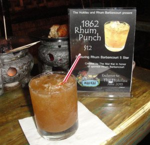 The Mai-Kai presents a special cocktail featuring Rhum Barbancourt. (Photo by Hurricane Hayward)