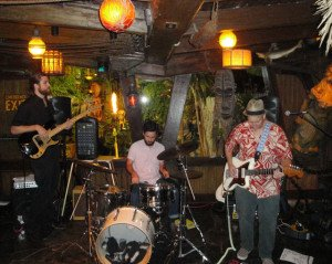 Gold Dust Lounge from Miami play a rousing set of instrumental surf. (Photo by Hurricane Hayward)