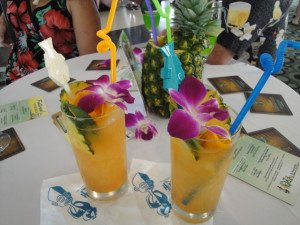 Paul McGee's Lost Lake cocktail is served at the Tiki Tower Takeover at The Hukilau in June 2015. (Photo by Hurricane Hayward)