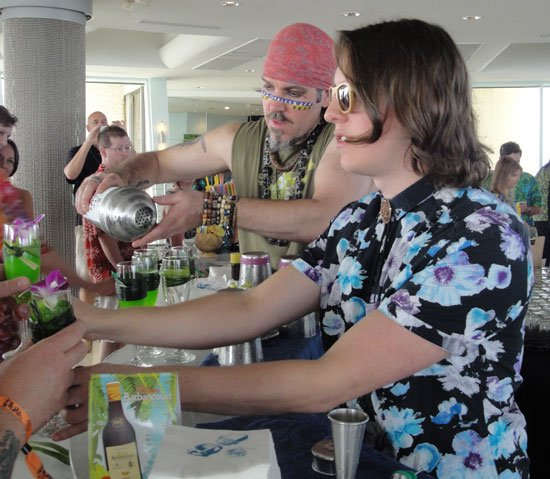 Brian Miller and Garret Richard try to keep up with demand for their Pandanarama Daiquiri