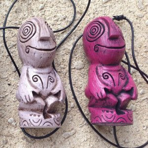 The Hukilau pendants by Perry Drake, based on the mug by Tiki Diablo