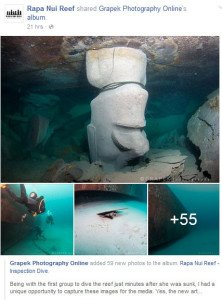 Photos on Facebook show the aftermath of the reef sinking
